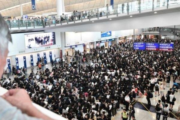 لغو تمامی پروازهای فرودگاه هنگ کنگ
