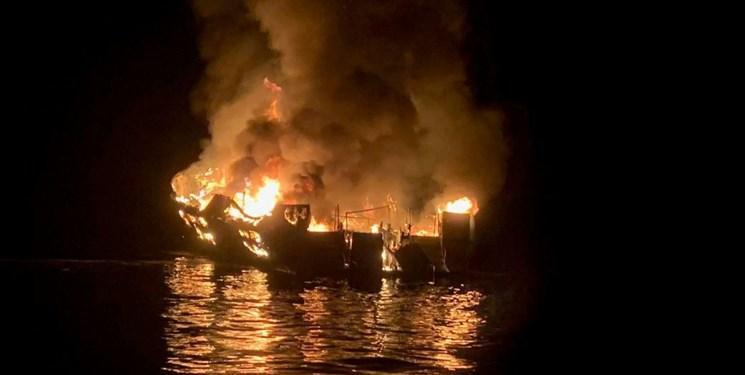 آتش سوزی کشتی تفریحی در کالیفرنیا، 25 جسد بیرون کشیده شد