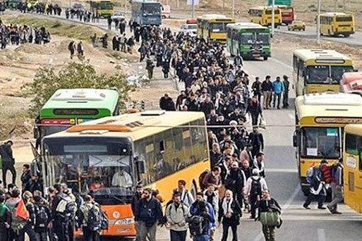 اعزام 600 دستگاه اتوبوس شهرداری تهران برای جابه جایی زائران اربعین