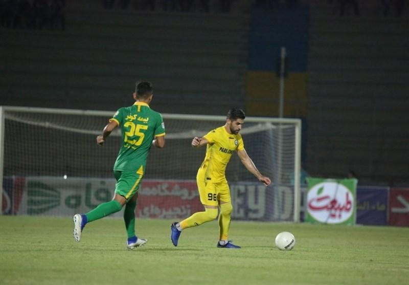 لیگ برتر فوتبال، پیروزی یک نیمه ای پارس جنوبی مقابل ماشین سازی