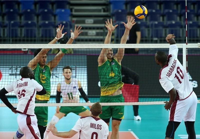 والیبال انتخابی المپیک، قطری ها استرالیا را غافلگیر کردند