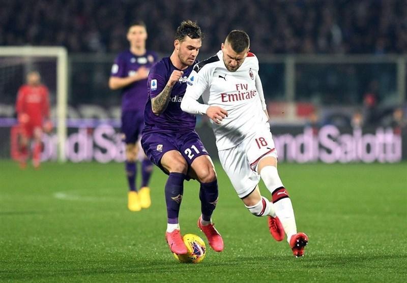میلان پیروزی در خانه فیورنتینا را از دست داد