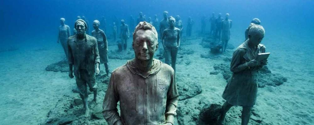 تجربه حسی متفاوت با موزه های مجسمه، زیر آب
