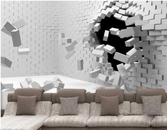 سقف و دیوار های سه بعدی خیره کننده