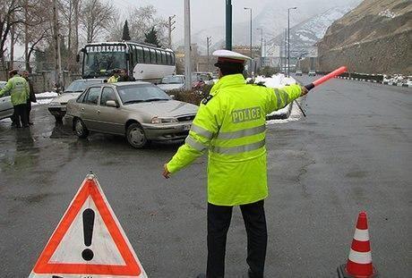 محدودیت های شدید ترافیکی و کنترل معابر در نهاوند