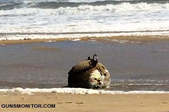 مین نظامی عجیب در سواحل کارولینای شمالی!