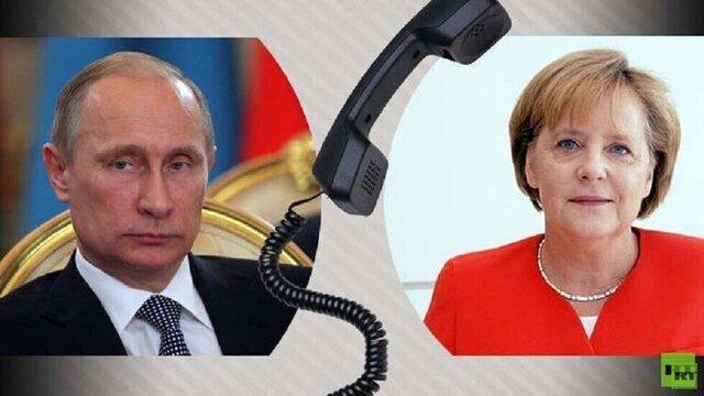 پوتین و مرکل به یکدیگر تبریک گفتند، سالگرد رهایی از فاشیسم