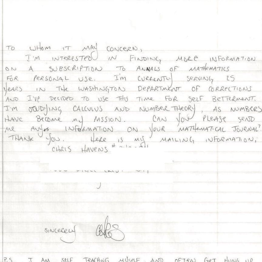 زندانی محکوم به 25 سال حبس، ریاضی دان خودساخته نابغه شد!