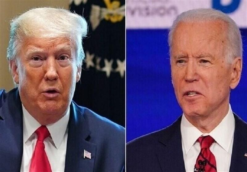 نظرسنجی نشان داد: ادامه رقابت تنگانگ بایدن و ترامپ برای ریاست جمهوری