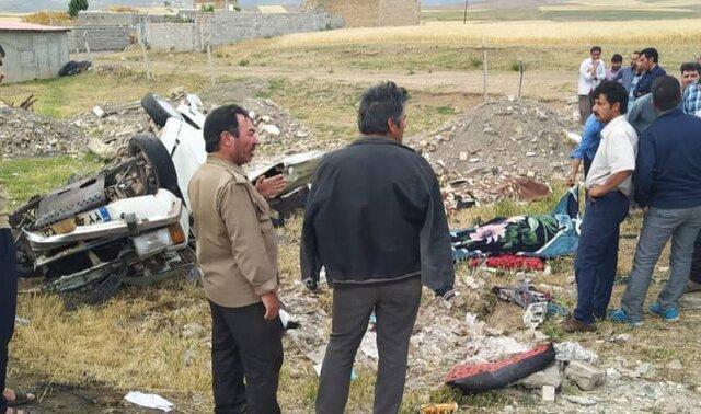 سانحه رانندگی در محور هریس-مشکین شهر 2 کشته و 1 مصدوم برجای گذاشت