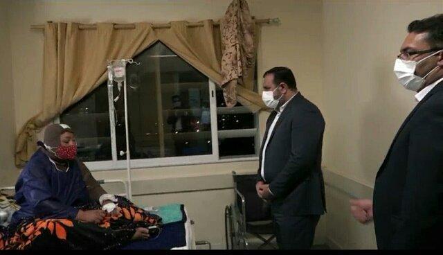 عیادت رییس کل دادگستری هرمزگان از مصدوم حادثه تخریب در بندرعباس