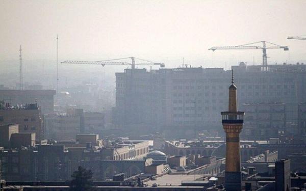 خبرنگاران هوای چهار منطقه کلانشهر مشهد آلوده است
