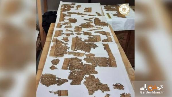 کشف بخشی از کتاب مردگان مصریان باستان، عکس
