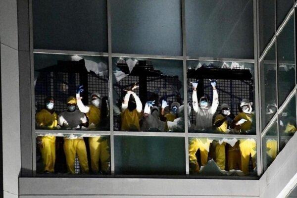 زندانیان زندان سنت لوییز در آمریکا شورش کردند خبرنگاران