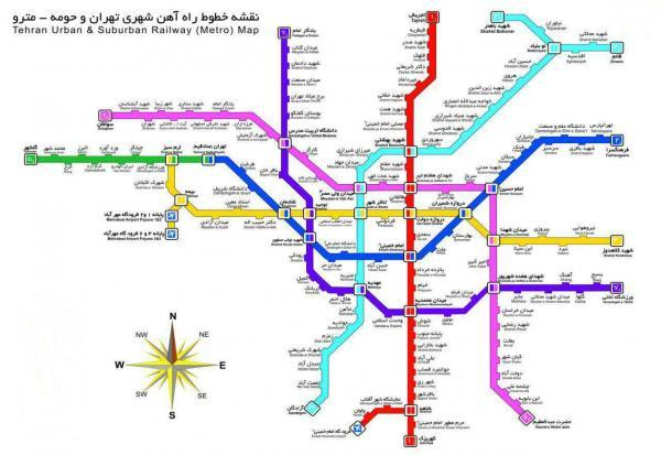 اتصال خط 6 مترو تهران به خط یک تا پایان سال 1400