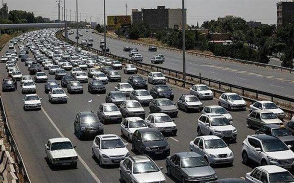 ترافیک سنگین در محورهای ورودی مرکز